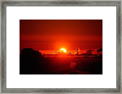 Framed Print featuring the photograph Rise And Shine by Gary Cloud