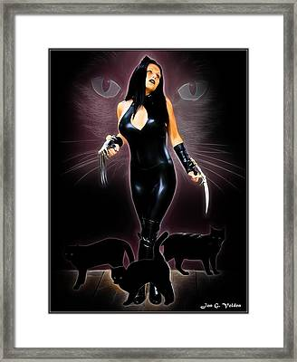 Rise Of The Cat Queen Framed Print