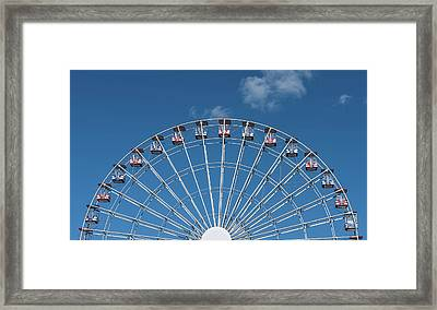 Rise Up Ferris Wheel In The Clouds Seaside Nj Framed Print by Terry DeLuco