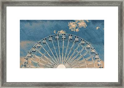Rise Up Ferris Wheel In The Clouds Framed Print by Terry DeLuco