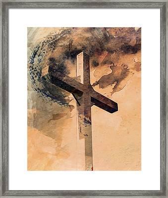 Framed Print featuring the digital art Risen  by Aaron Berg