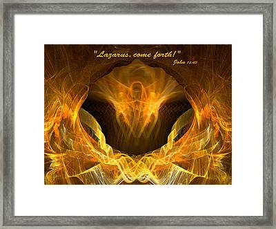 Framed Print featuring the digital art Risen by R Thomas Brass