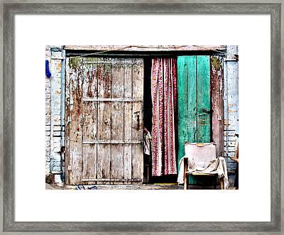 Rishikesh Door Framed Print by Derek Selander