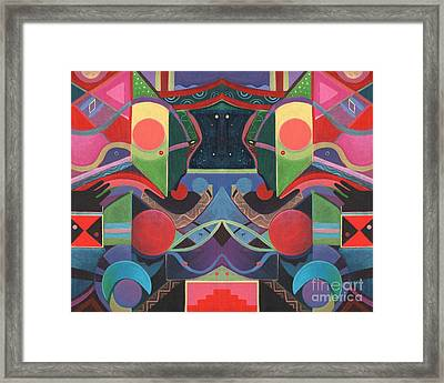 Rising Above And Synergy 3 Framed Print by Helena Tiainen