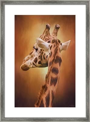 Rising Above - Giraffe Art Framed Print