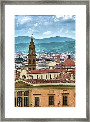 Rising Above The City Framed Print