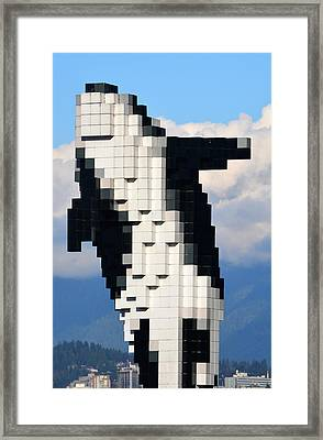 Rising Above Vancouver Framed Print by Richard Andrews