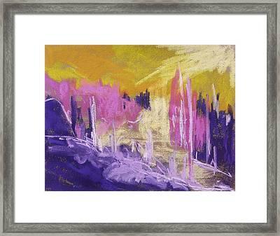 Rising Against Yellow Framed Print by John Williams