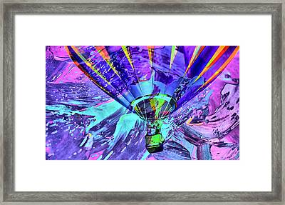 Rising Balloon Abstract Framed Print by Jeff Swan