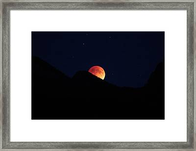 Blood Moon Rising Framed Print by Cathie Douglas