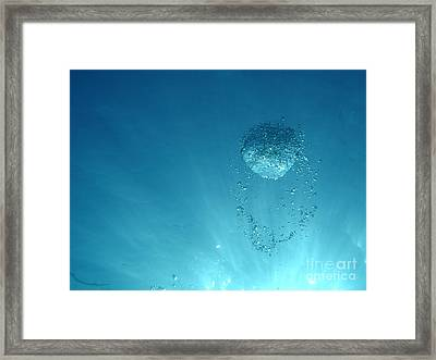Rising Bubble Framed Print by Chad Natti