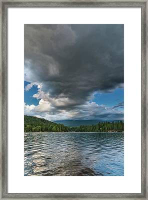 Rising Cloud Above Siskiyou Framed Print by Greg Nyquist