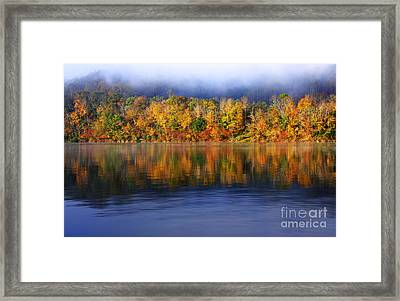 Rising Fog Fall Color Framed Print