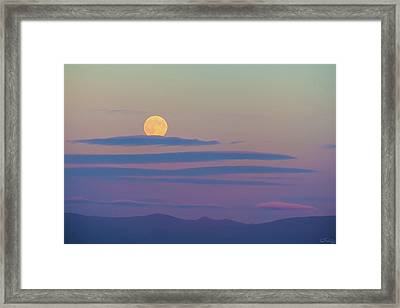 Rising Harvest Moon  Framed Print