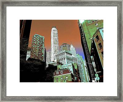 Rising High - New York Wall Street Framed Print