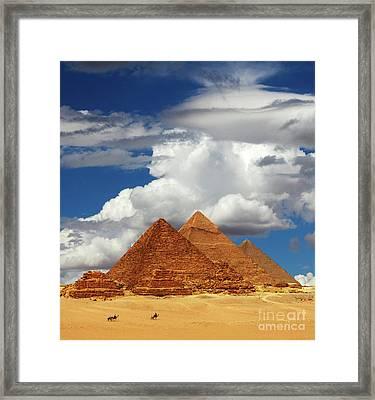 Rising In The Sahara Framed Print