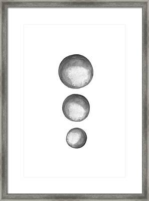 Rising Moons Framed Print by Nordic Print Studio