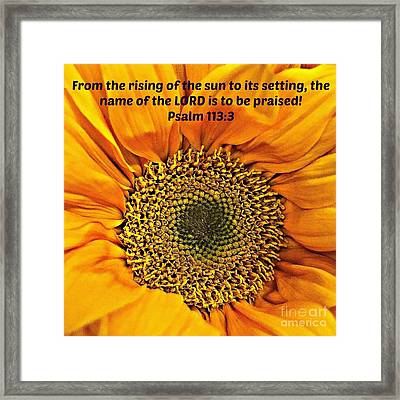 Rising Of The Sun Framed Print