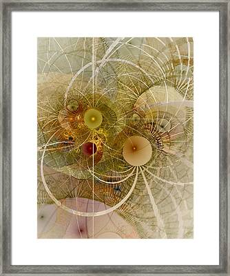Framed Print featuring the digital art Rising Spring - Fractal Art by NirvanaBlues