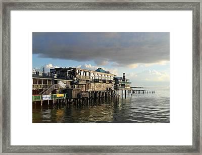 Rising Storm Dock Street Framed Print by Sheri McLeroy