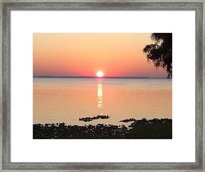 Framed Print featuring the photograph Rising Sun by Frederic Kohli