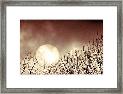 Rising Sun Moody Sky Framed Print by Terry DeLuco