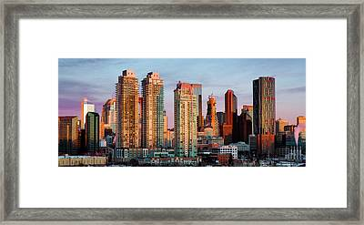 Rising Sun On Calgary Framed Print