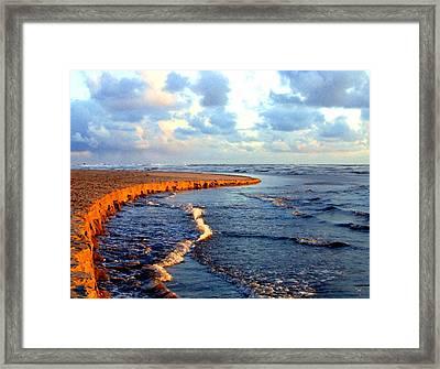 Rising Tide At Sundown  Framed Print