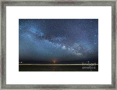 Rising Tide Rising Moon Rising Milky Way Framed Print