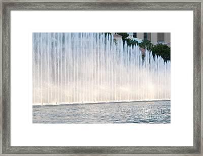 Rising Wall Of Water Bellagio Hotel Casino Fountains Las Vegas Nevada Framed Print
