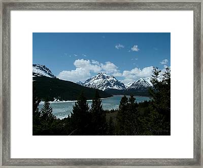 Rising Wolf And Two Medicine Lake Framed Print