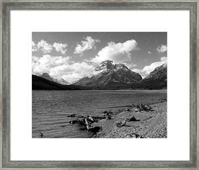 Rising Wolf, Two Med Shoreline Framed Print