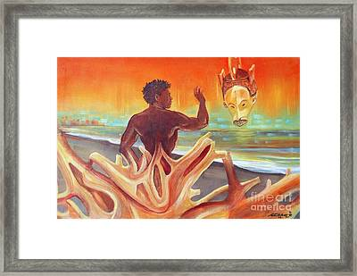Rising Youth Seeks Ancient Wisdom Framed Print by Arnold Grace
