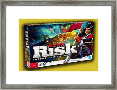 Risk Board Game Painting Framed Print by Tony Rubino