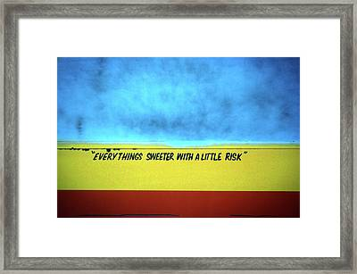 Risk Framed Print
