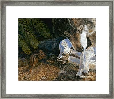 Framed Print featuring the painting Risky Business by Sheri Gordon