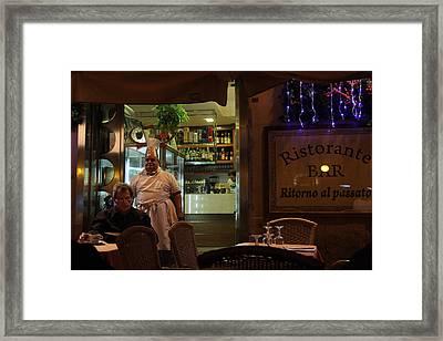 Ristorante Framed Print by Art Ferrier