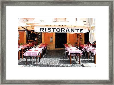 Ristorante In Rome Framed Print