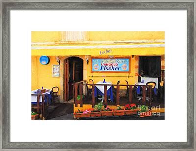 Ristorante In Taormina Framed Print