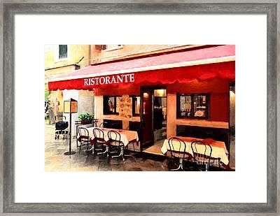 Ristorante In Venice Framed Print
