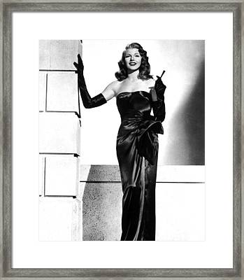 Rita Hayworth Framed Print by American School