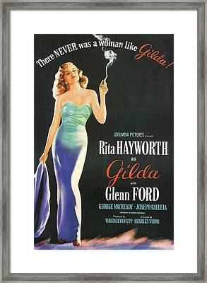 Rita Hayworth As Gilda Framed Print by Georgia Fowler