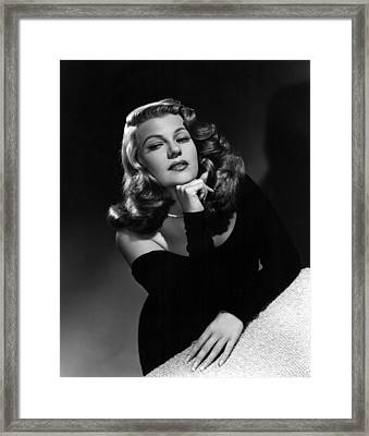 Rita Hayworth, Portrait Ca. 1948 Framed Print by Everett