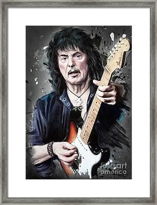 Ritchie Blackmore Framed Print by Melanie D