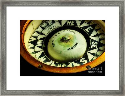 Ritchie Compass Framed Print by Michael Eingle