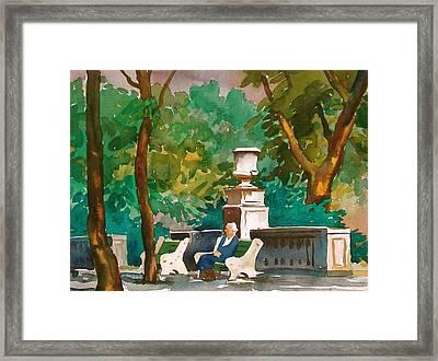 Rittenhouse Square Framed Print by Faye Ziegler
