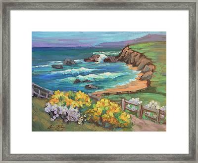 Ritz Carlton At Half Moon Bay Framed Print by Diane McClary
