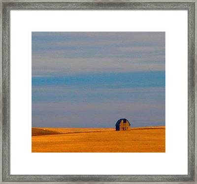 Ritzville Barn Revisited Framed Print