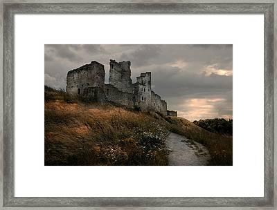 Ruined Castle In Rakvere Framed Print