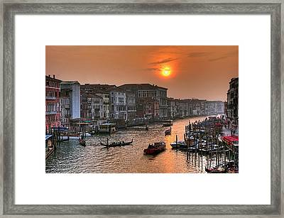 Riva Del Ferro. Venezia Framed Print